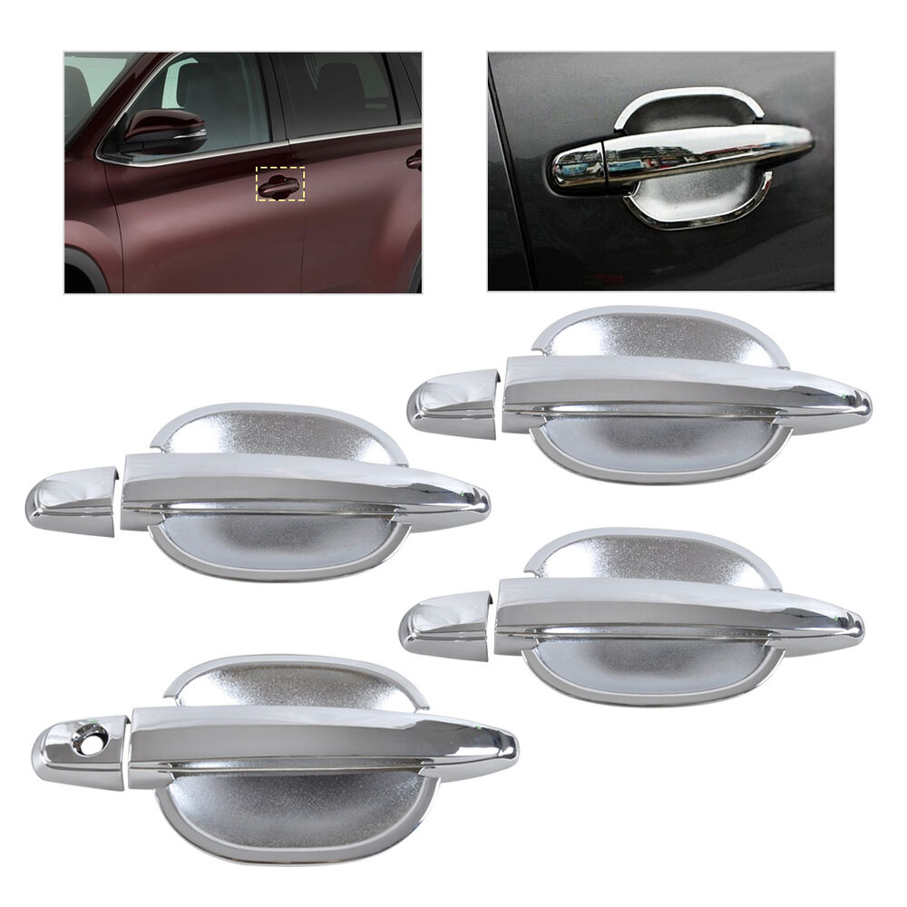 Hotsale Chrome Door Handle Cup Bowl Cover Trim For Toyota Camry Highlander Ebay