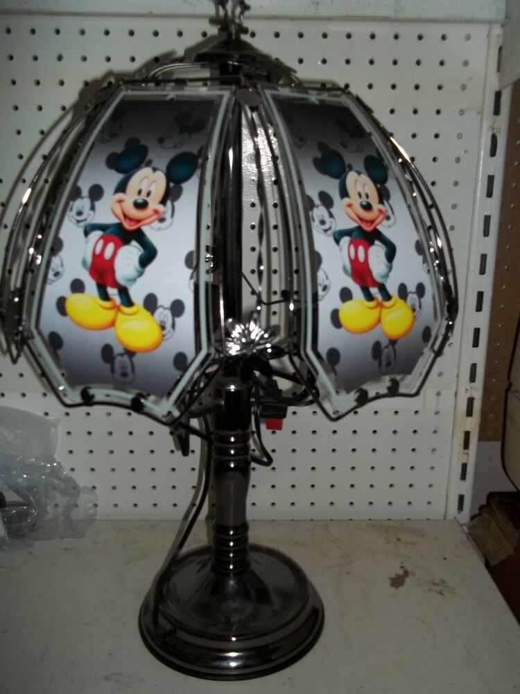 Quot New Quot Custom Mickey Mouse 24 Quot Touch Lamp Ad Ebay