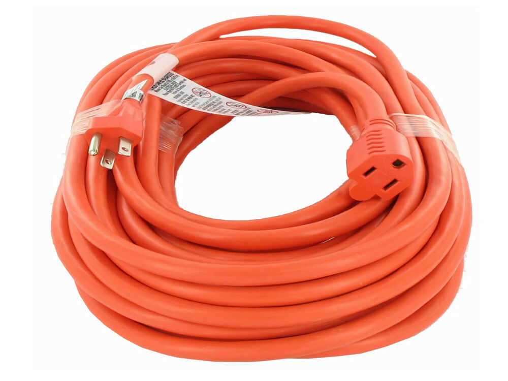 Outside Extension Cord : Ft sjtw gauge conductor outdoor extension cord ebay