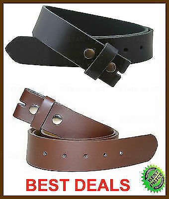 black brown casual dress leather belt snap on no
