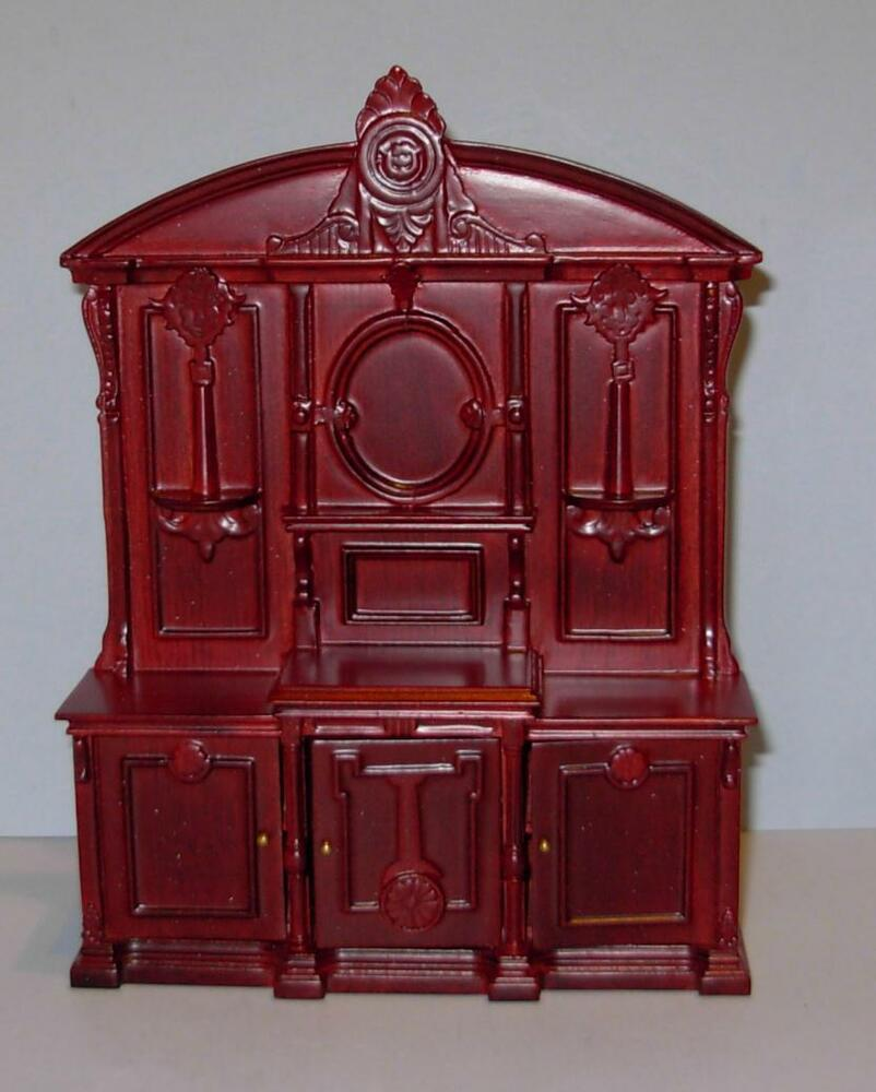 JBM MINIATURES VICTORIAN DRAWING ROOM CABINET DOLLHOUSE