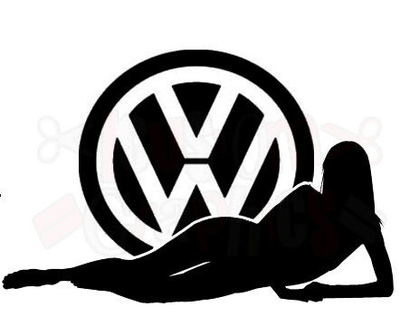 vw sexy girl car sticker logo vinyl graphics decals beetle ...