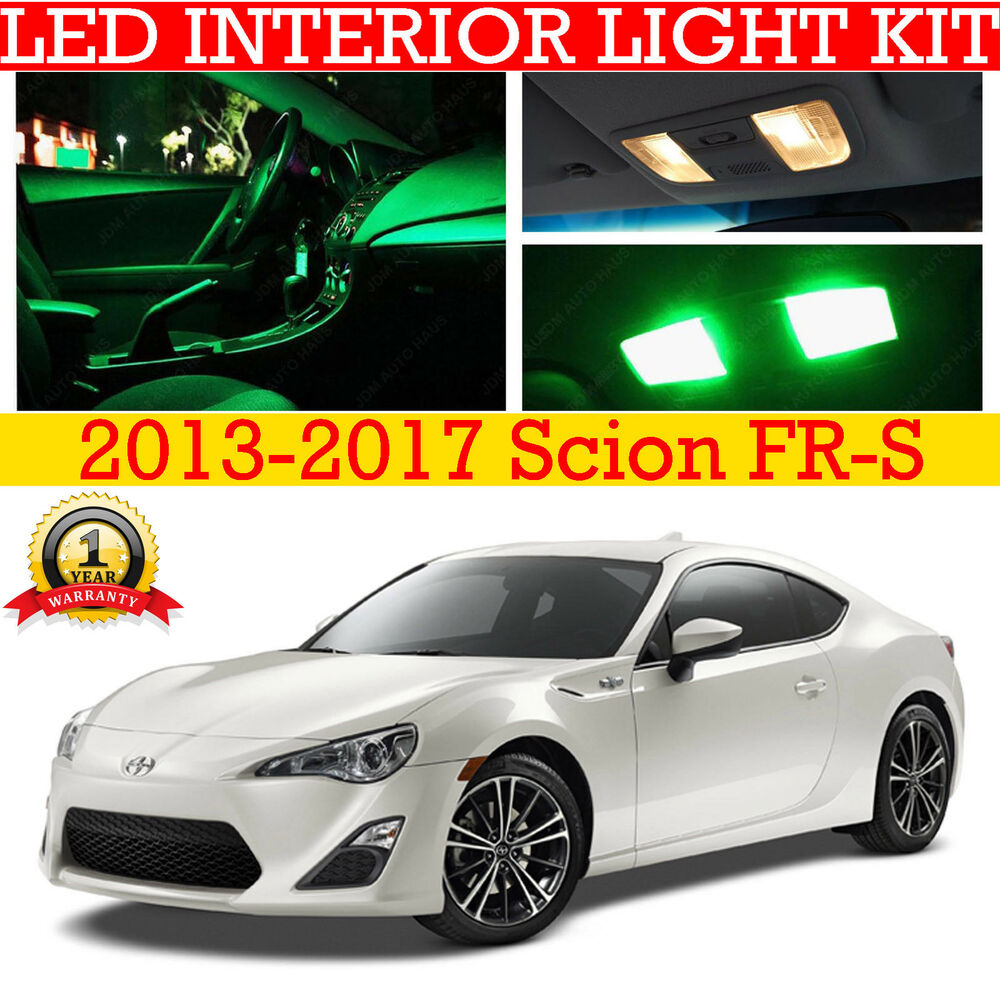 Fits 2013 2017 scion fr s frs ft 86 green led interior light accessories kit 4pc ebay for Scion frs interior accessories