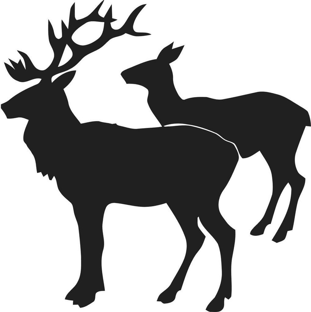Two Deer Silhouette Vinyl Wall Sticker Decal 22 Quot X22