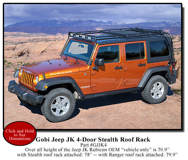 gobi jeep wrangler jk unlimited 4 door stealth recon roof ra