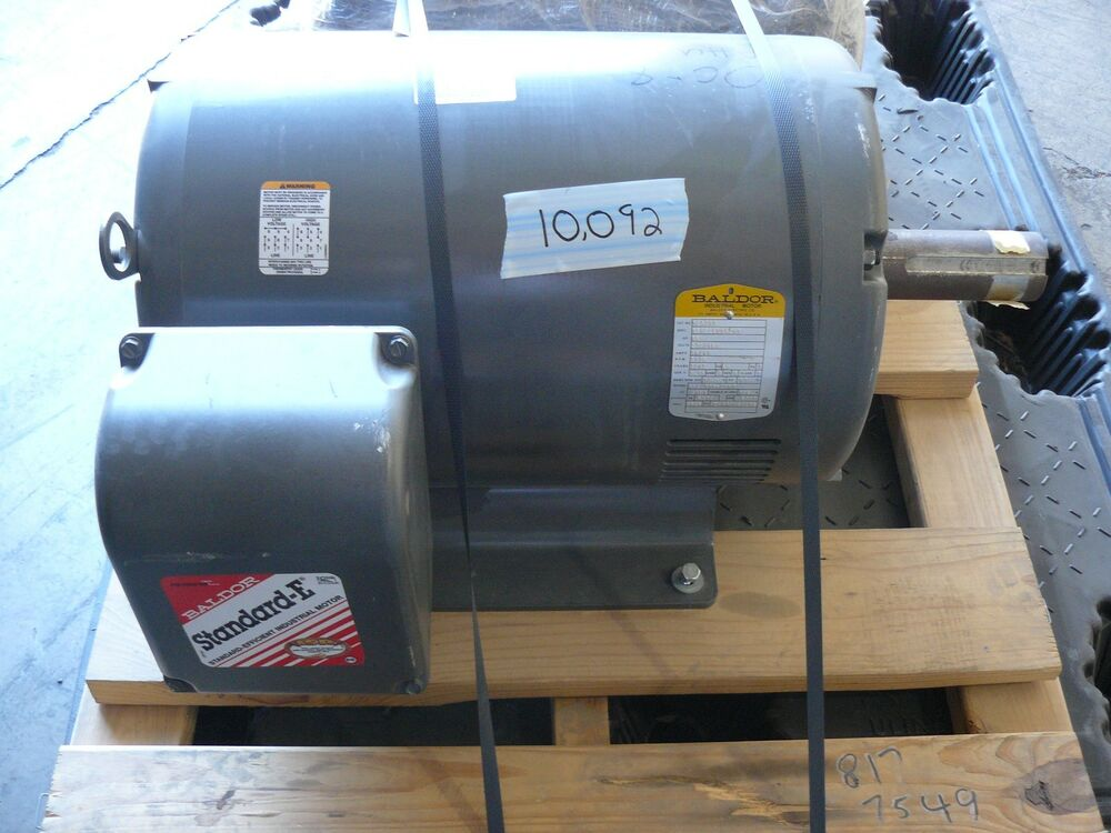 New baldor m2539t motor 40 hp 230 460 volt 3 phase 1770 for 40 hp 3 phase electric motor