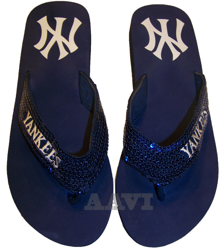 New York Yankees Mlb Flip Flop Beach Shoes Sandals Slippers