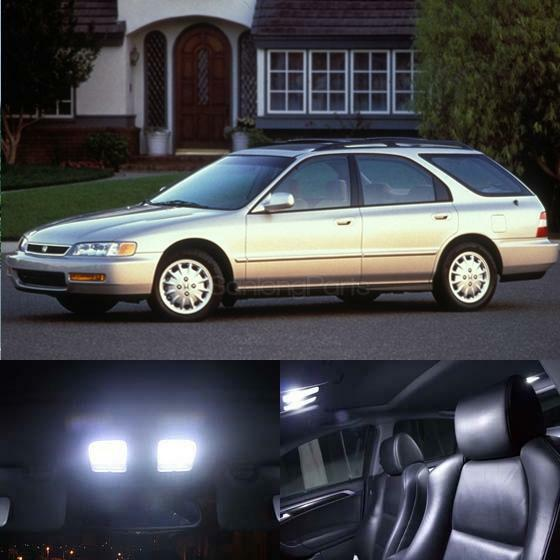 10x white led interior package kit for 1994 1997 honda accord sedan wagon ebay. Black Bedroom Furniture Sets. Home Design Ideas