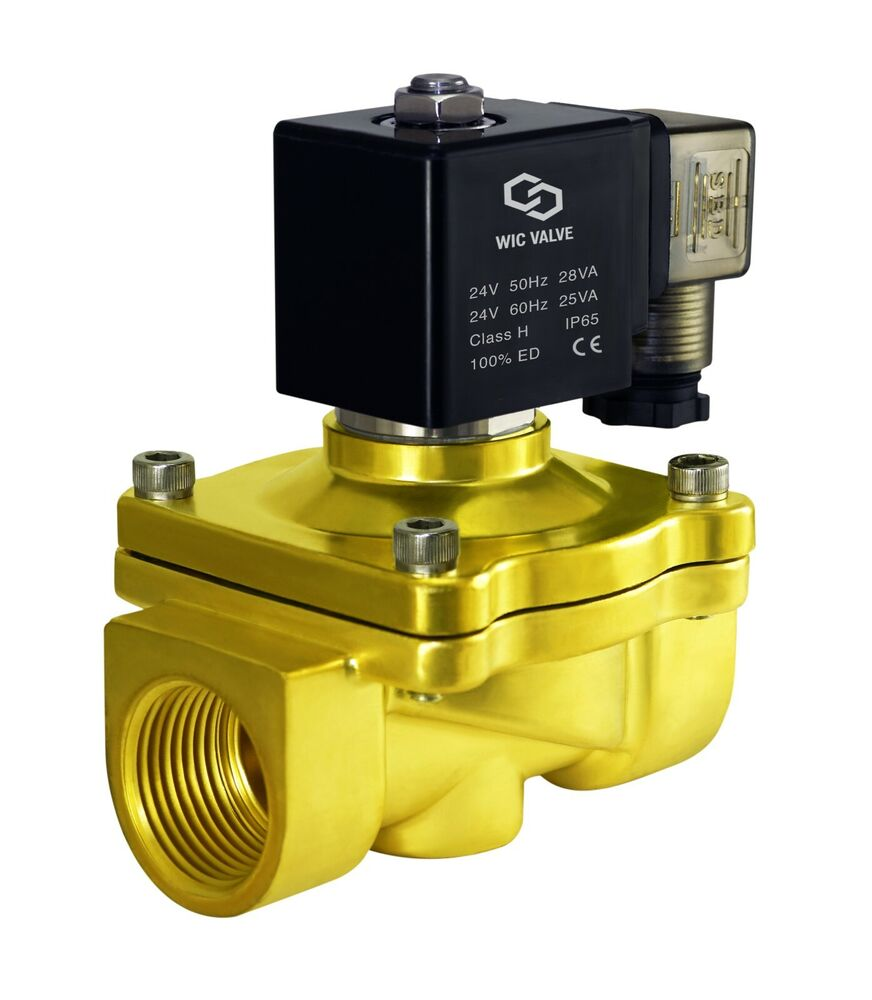 1 Quot Inch Brass Electric Air Gas Water Solenoid Valve