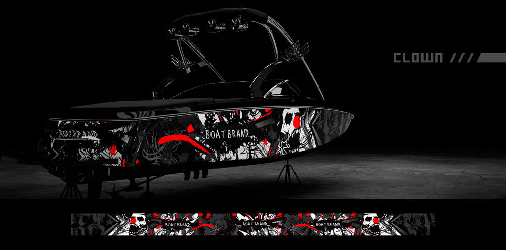 Boat Wraps Graphics Decals Kit Wrap Boat Graphic Kits