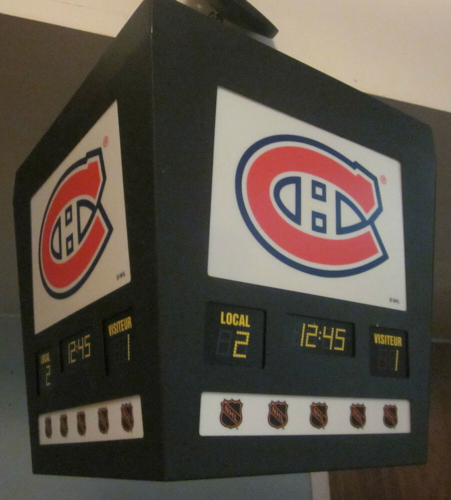 Montreal Canadiens Nhl Scoreboard Light Fixture Lamp Hockey Bar Decor Series