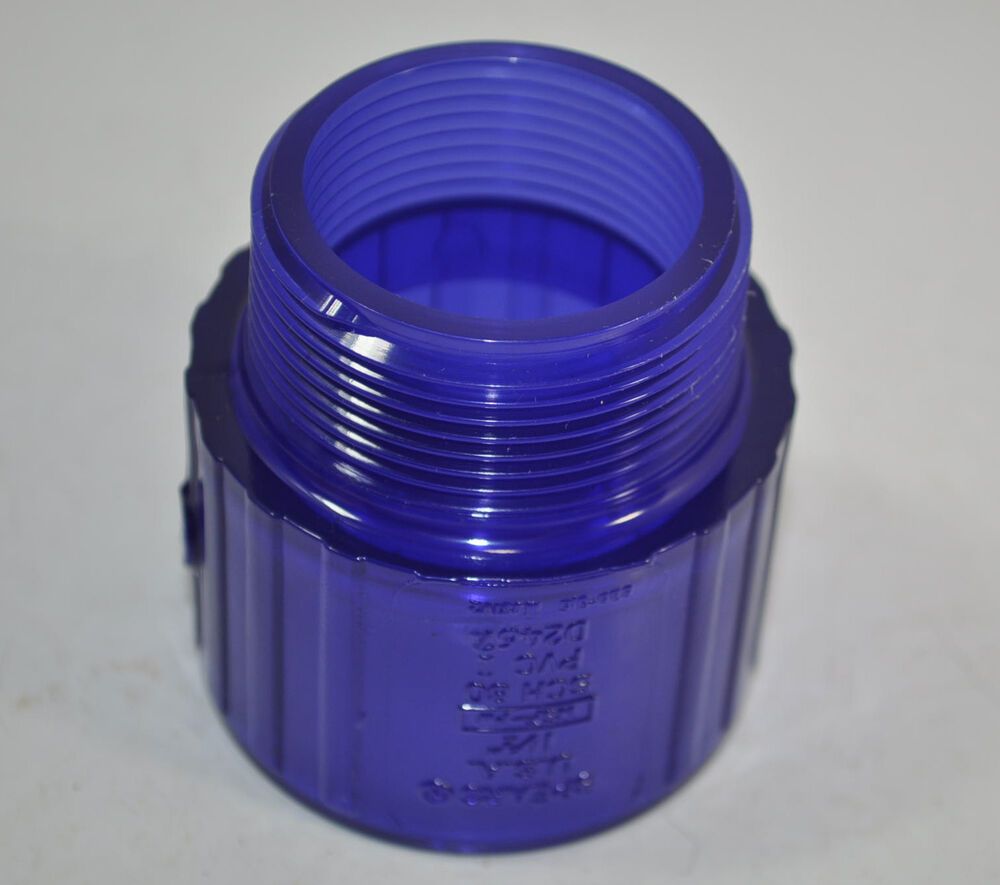 New spears lxt pure water pvc coupling male adapter