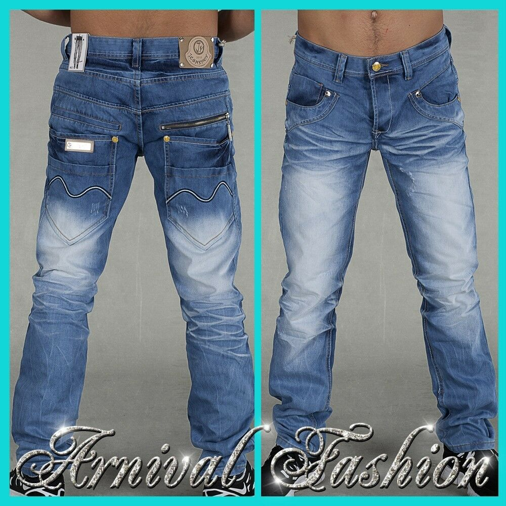 NEW BLUE JEANS FOR MEN stitch DENIM PANTS menu0026#39;s JEAN WEAR MENS european CLOTHING | eBay