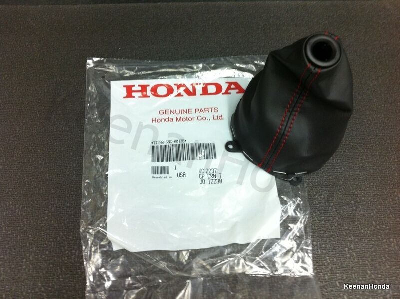 Genuine Oem Honda Civic Si Red Stiched Shift Boot 2006