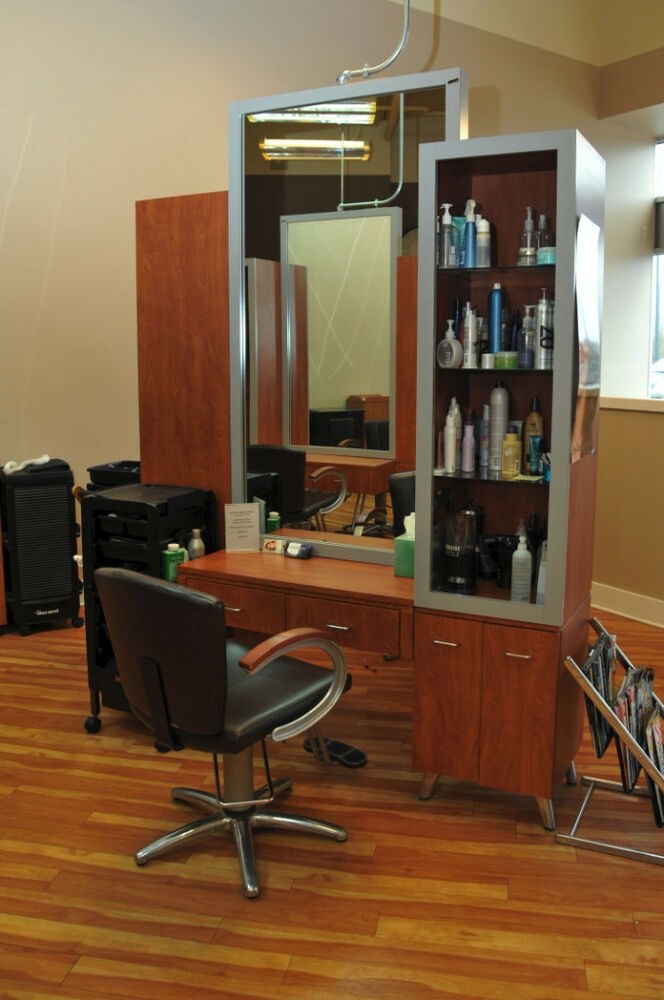 Collins high end beauty salon equipment used stations for Salon furniture makeup station