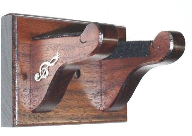 guitar wall hanger walnut wood guitar hanger wall mount display with silver 1521