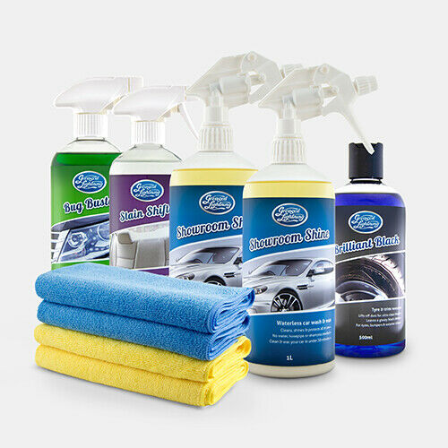 greased lightning showroom shine waterless car cleaning wash wax polish ebay. Black Bedroom Furniture Sets. Home Design Ideas