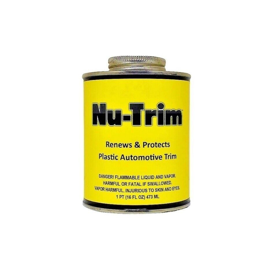 Nu trim plastic restorer renews revives faded plastic bumpers and trim 16 oz ebay Black interior car trim restorer