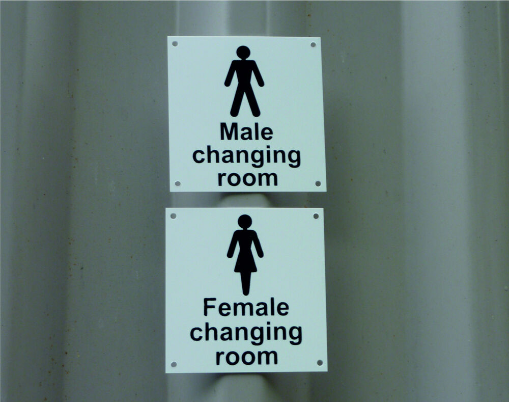 Male female changing room cloakroom toilet bathroom gym