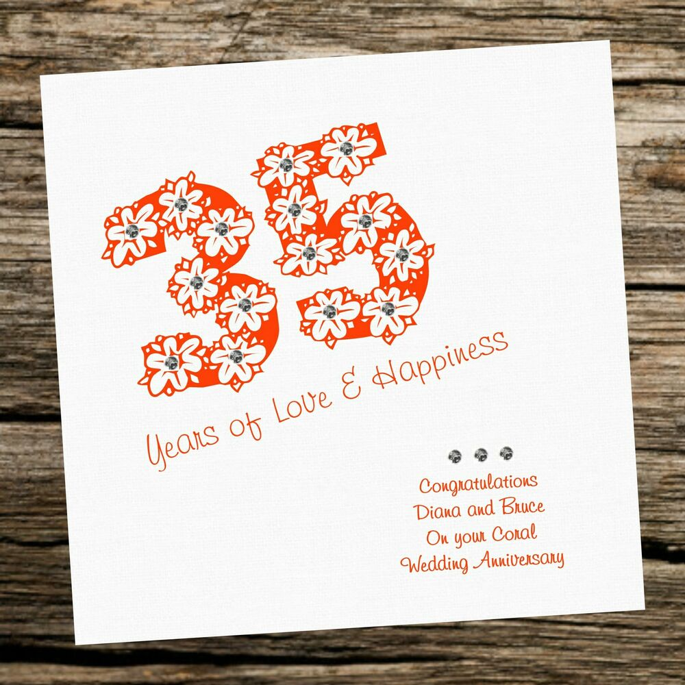 35th Wedding Anniversary Gift For Wife: Wedding Anniversary 35th Coral