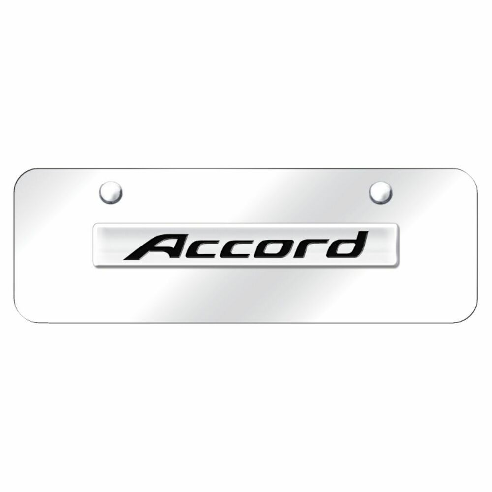 Honda Accord Front License Plate Frame Logo On Mirror