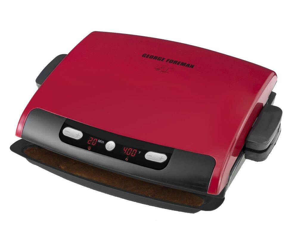 Electric Grill With Removable Plates ~ George foreman serving electric grill removable plate