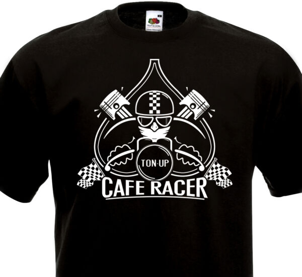 Tee Shirt CAFE RACER TON UP BSA Triumph Triton Norton Motorcycle Moto Vintage