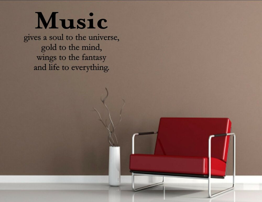 Music Gives Vinyl Quote Me Wall Art Decals 1472 Ebay