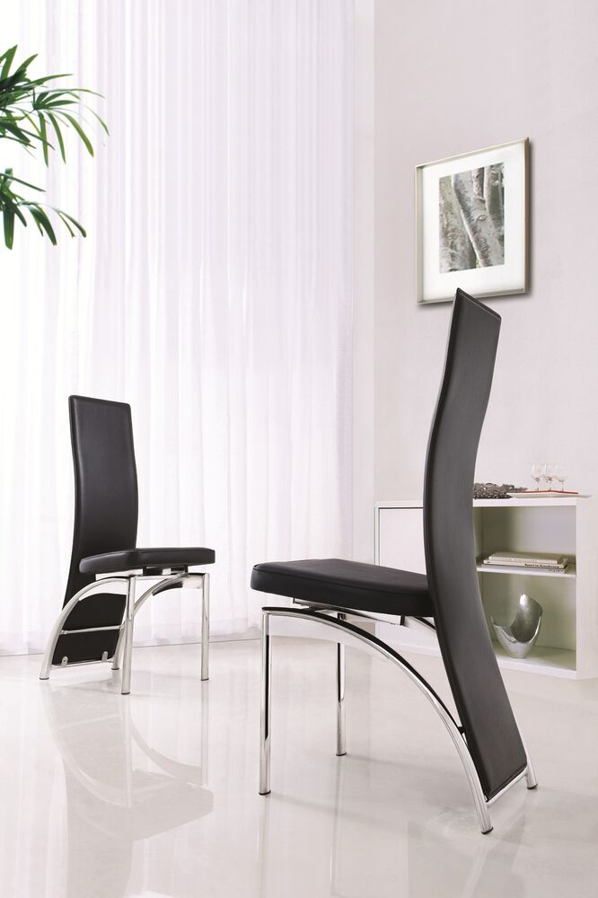 designer leather chrome dining room chair furniture 4 colours