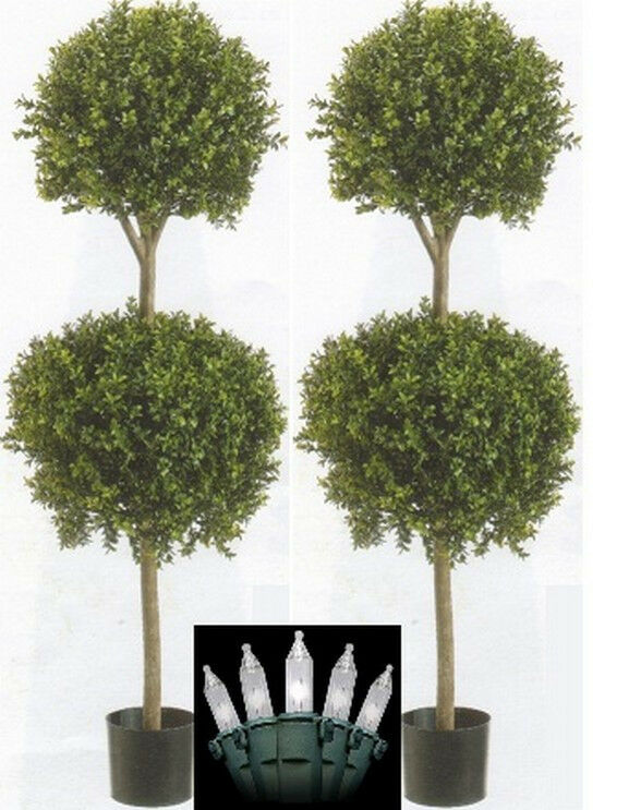 2 Artificial 56 Quot Boxwood Ball Outdoor Topiary Tree Plant