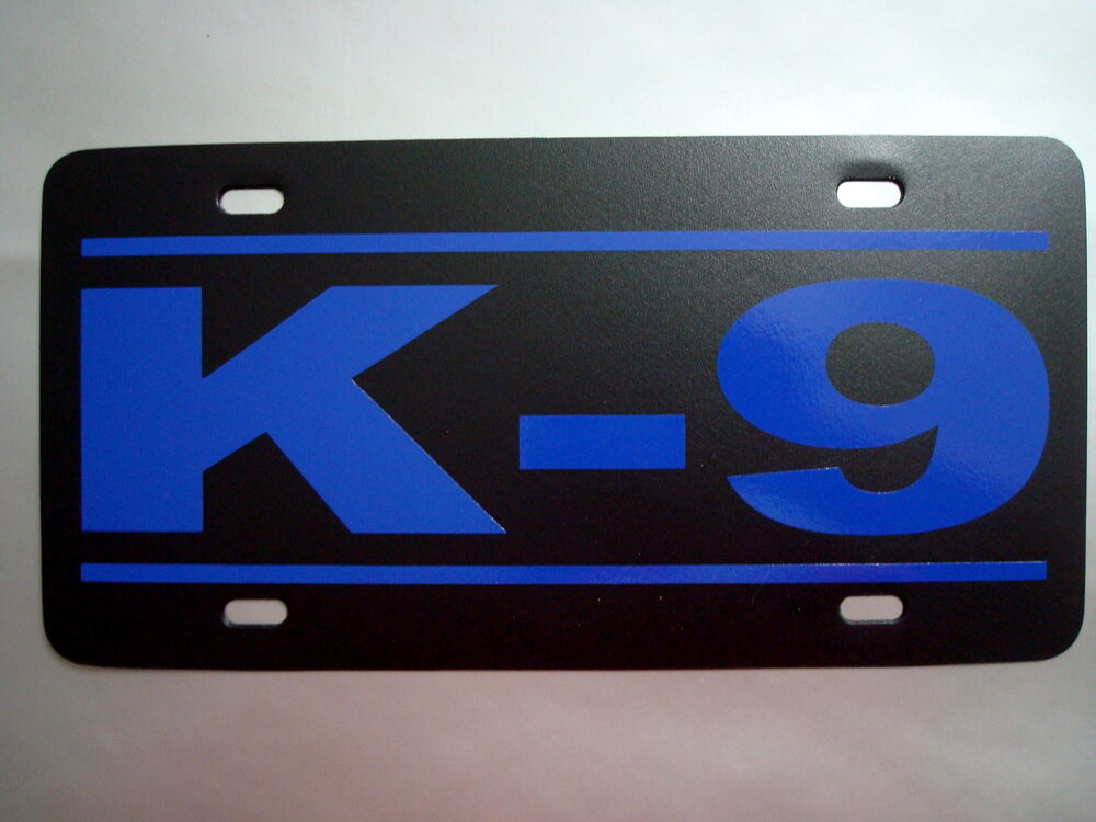 K 9 License Plate K9 Novelty Canine Decal Police Tactical