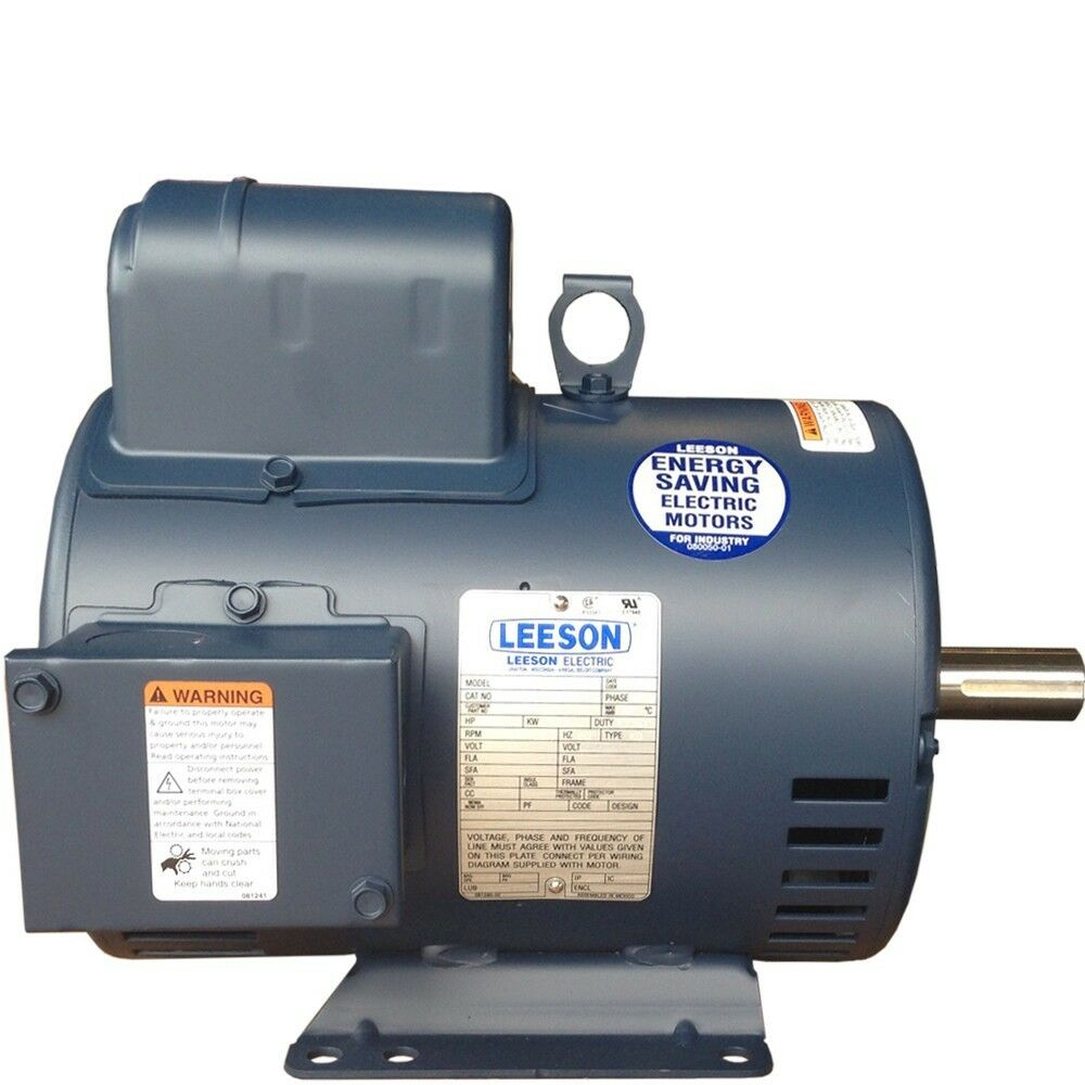 5 hp single phase leeson electric compressor motor 184t Leeson 115 230 Motor Wiring Leeson 115 230 Motor Wiring