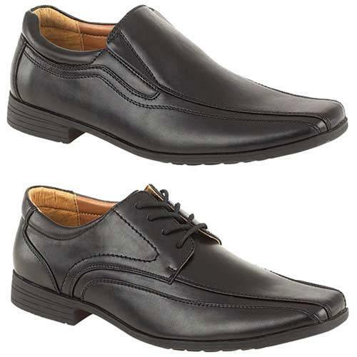 MENS SMART WEDDING SHOES NEW ITALIAN FORMAL WIDE FIT