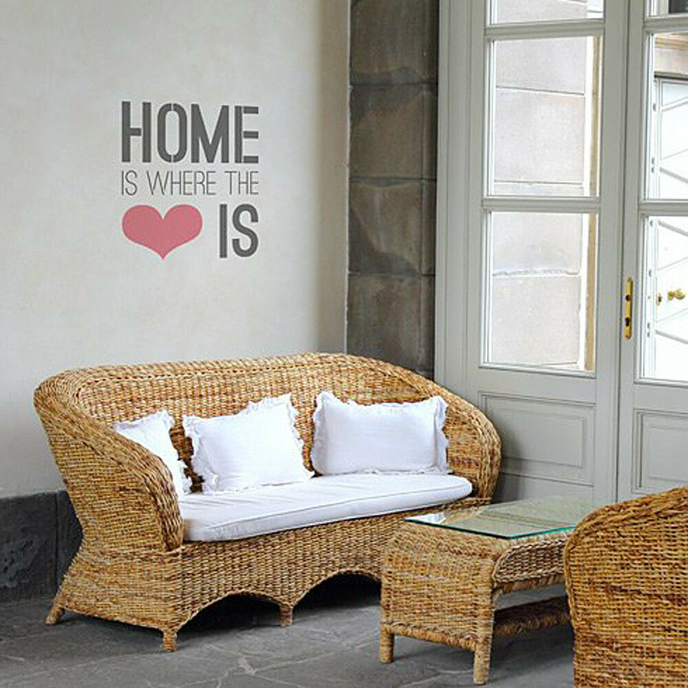 Home Is Where The Heart Is Quote Stencil for Walls Easy