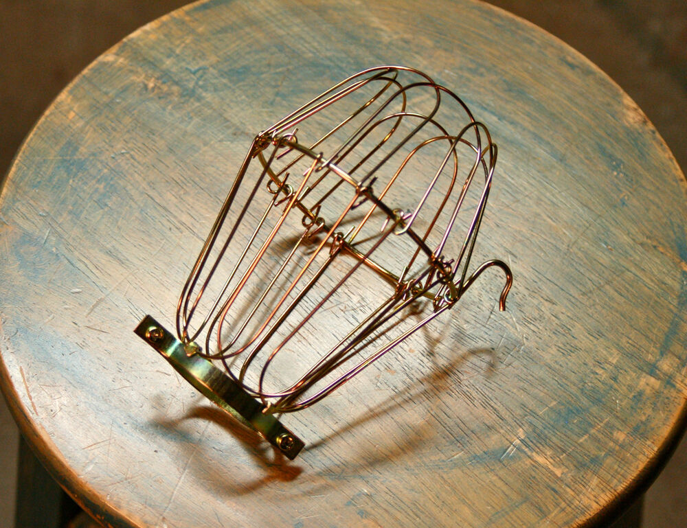 brass wire bulb cage clamp on lamp guard vintage trouble. Black Bedroom Furniture Sets. Home Design Ideas