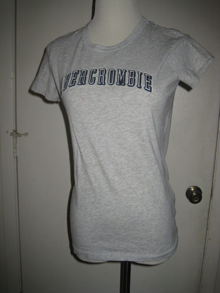 Junior abercrombie fitch large gray t shirt ebay for Abercrombie and fitch tee shirts