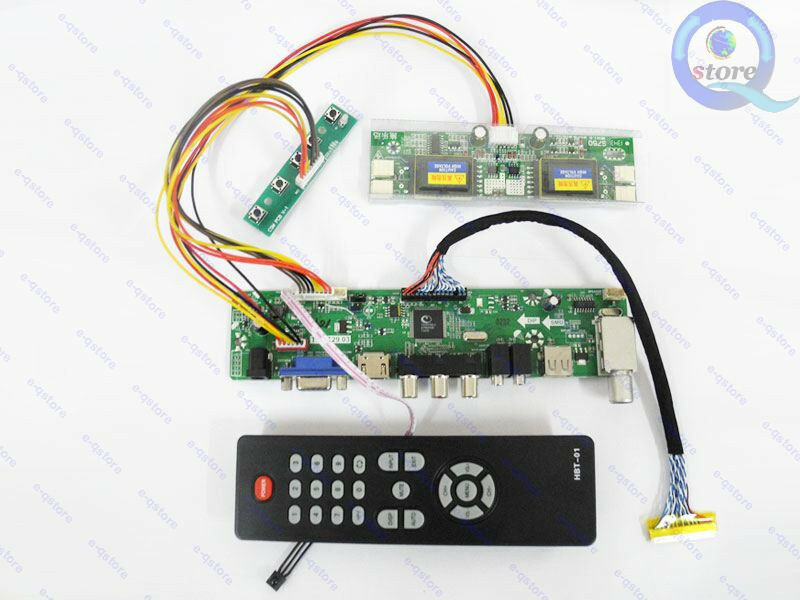 lcd controller board tv pc dvd diy kit lvds inverter ebay. Black Bedroom Furniture Sets. Home Design Ideas
