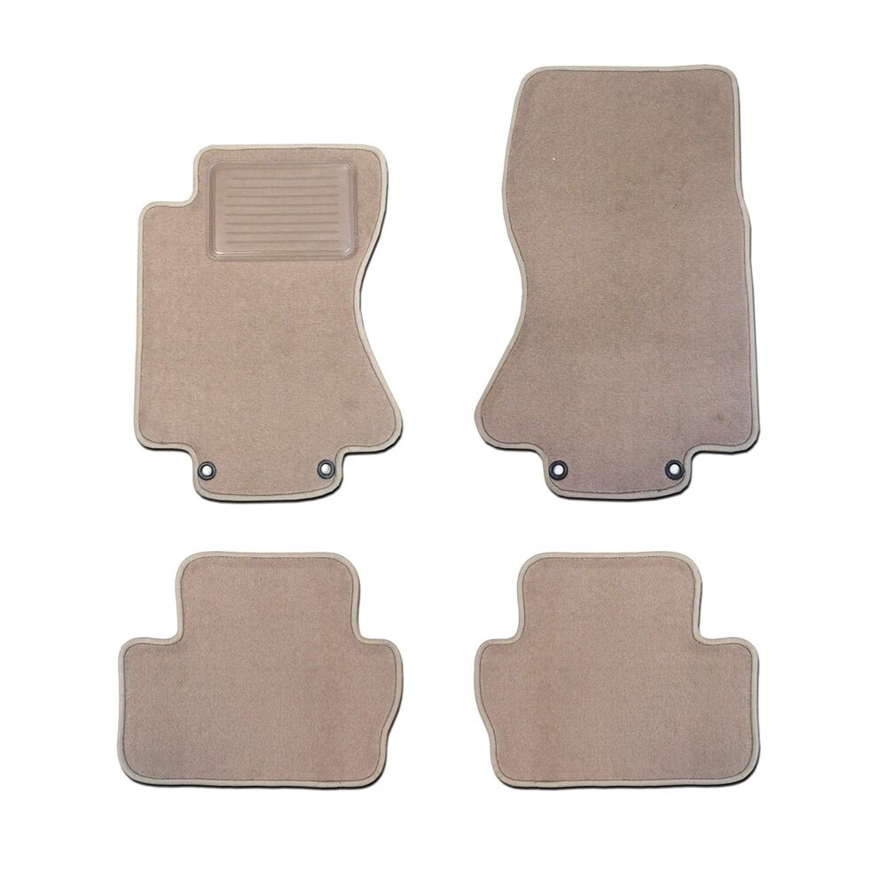 Jaguar Xj8 Custom Fit Carpet Beige Floor Mats 4pc Heel Pad