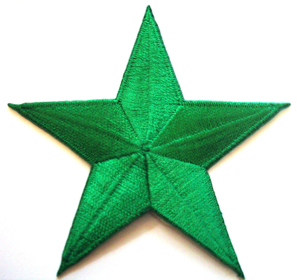 Christmas Tree Patch: Christmas Kelly Tree GREEN 2.5 Inch Iron On Star Patch