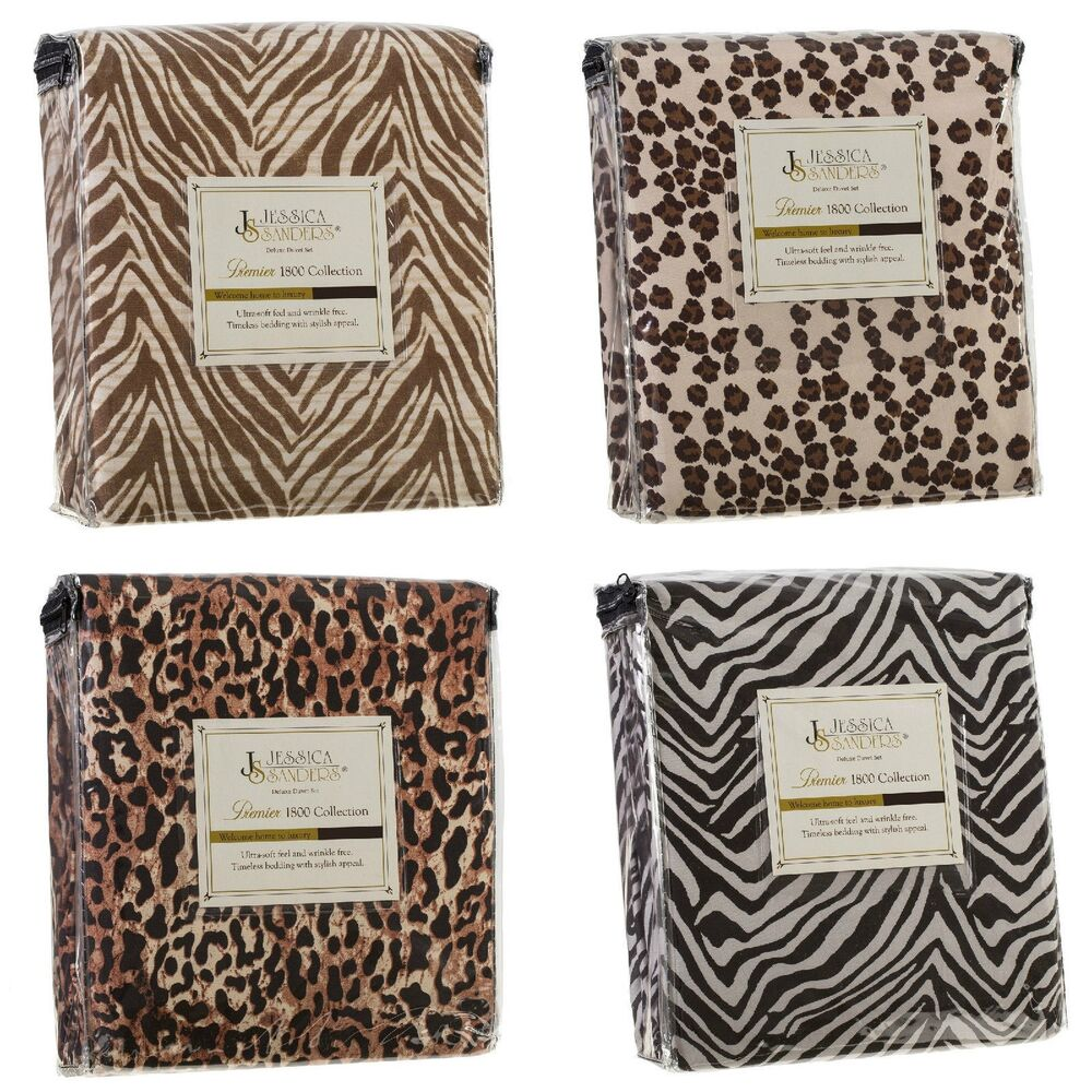 Duvet Cover And Shams 1800 Series Animal Prints King Queen