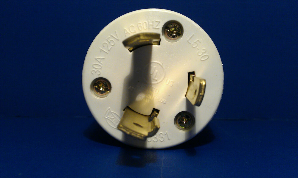 Replacement 30 Amp 125 Volt Male Twist Lock 3 Wire Power