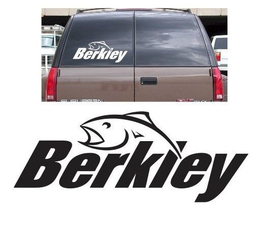 Berkley decal sticker fishing rod bass boat hunting reel for Fishing stickers for trucks