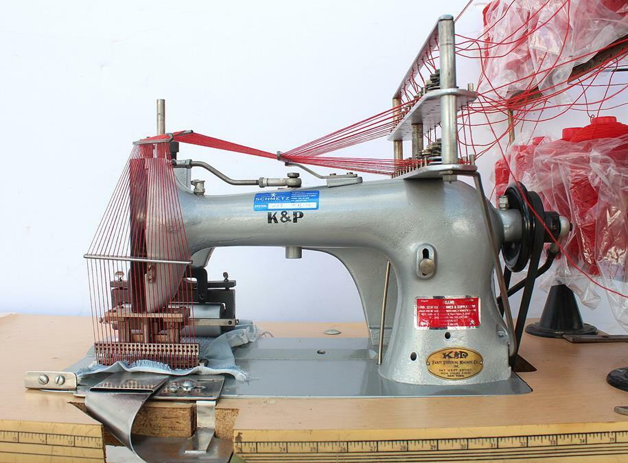 KP 40Needle Chainstitch Elastic Smocking Puller Industrial Sewing Enchanting Sewing Machine Smocking