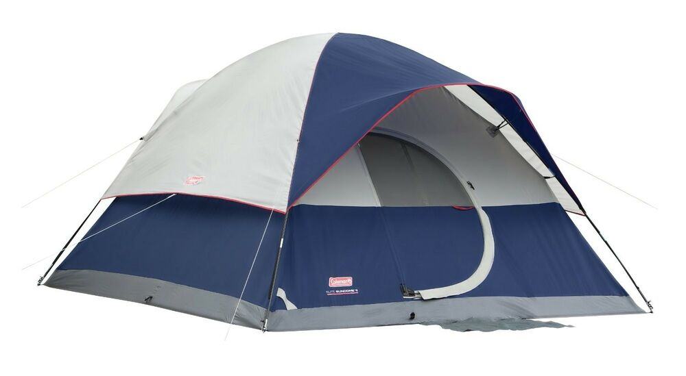 New Coleman Elite Sundome 12 X10 6 Person 2 Room Tent