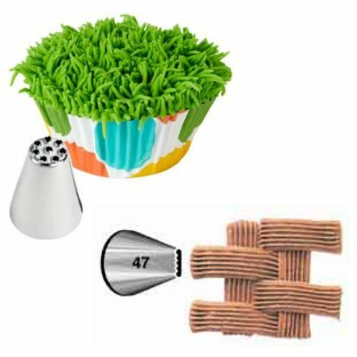 Cake Decorating Tip To Make Grass : Wilton Icing Decorating Tip Set 47 Basketweave and 233 Fur ...