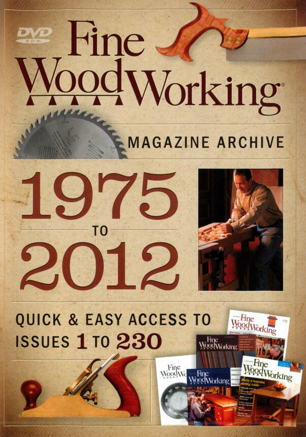 Fine Woodworking Magazine Archive DVD 1975-2012 *NEW* back ...
