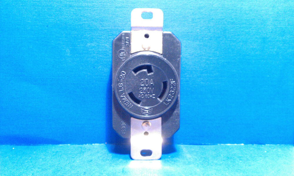 Replacement Wall Receptacle 20 Amp 250 Volt Twist Lock 3