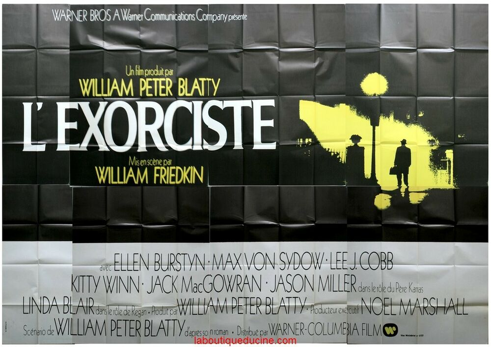 l 39 exorciste the exorcist affiche cin ma geante movie poster william friedkin ebay. Black Bedroom Furniture Sets. Home Design Ideas