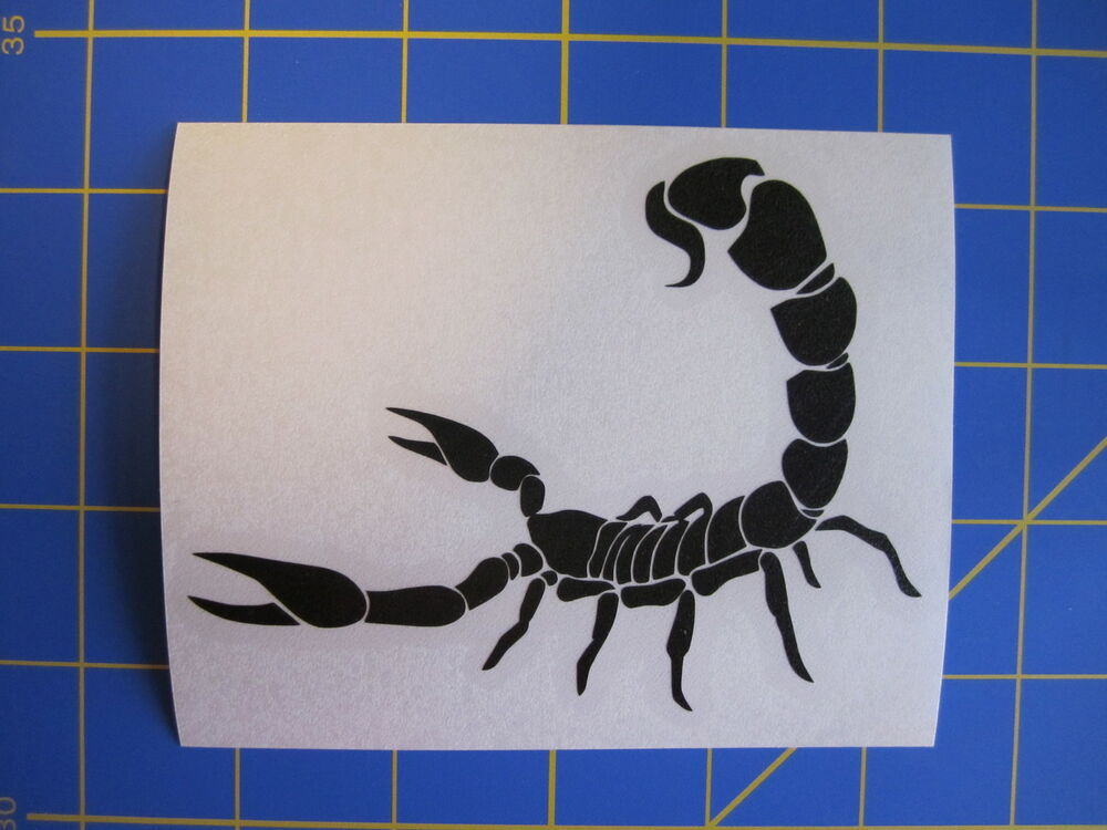 Scorpion Vinyl Decal Sticker 4x3 Any Color Ebay