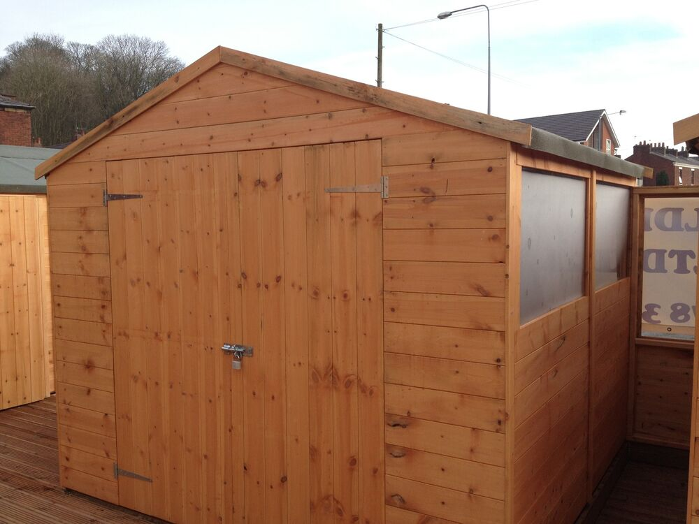 8x8 apex garden shed wooden sheds t g ebay for Garden shed 8x8